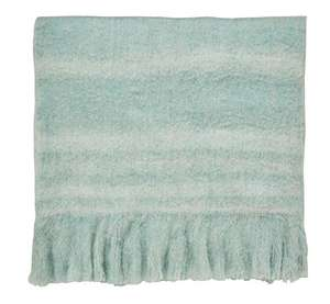 Sanderson Delphiniums Blanket, Wool Blend, Mint, Double - £21.46 @ Amazon