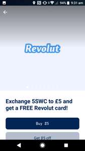 £5 + Free Revolut Card(new customer only) @ Sweatcoin for 5 sweatcoins