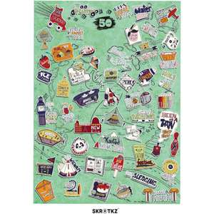51 Things to do with Family Scratch poster £11.99 with code @ IWOOT