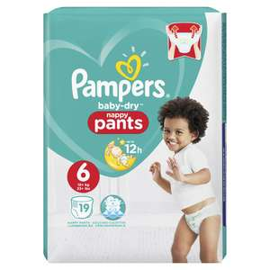 Pampers Baby Dry Nappy Pants Carry Pack Size 4,5,6 £1.00 @ Wilko Instore