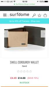 Swell corduroy wallet - £4.49 @ Surfdome