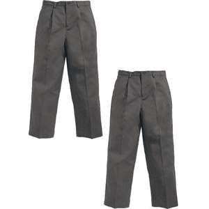 2 pairs of grey school trousers limited sizes - £2.99 / £6.94 delivered @ Bargain Crazy