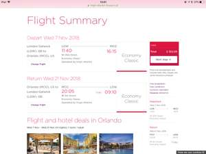 Return flights to Orlando International from Gatwick in November! - £352.06 @ Virgin Atlantic