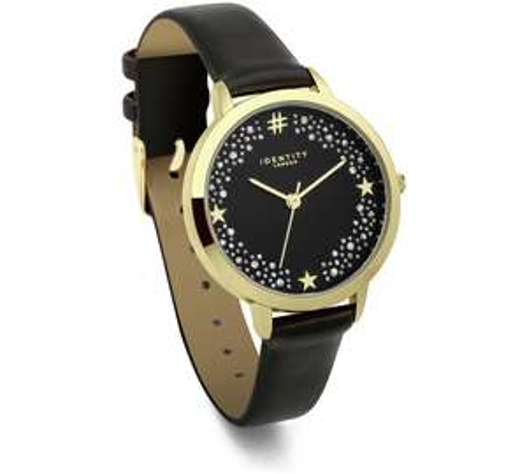 Identity Black Strap Glitter Star Dial Watch down to £7.99 @ Argos