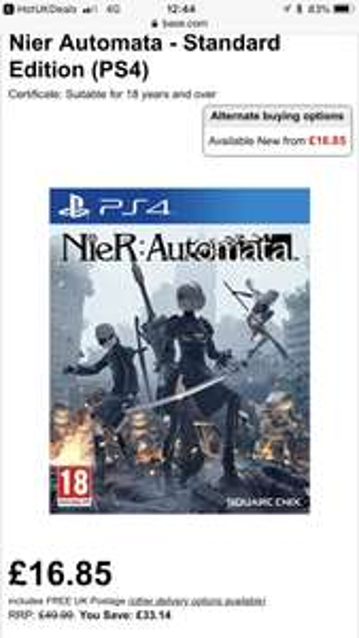 Nier Automata - Standard Edition (PS4) - £16.85 @ BASE
