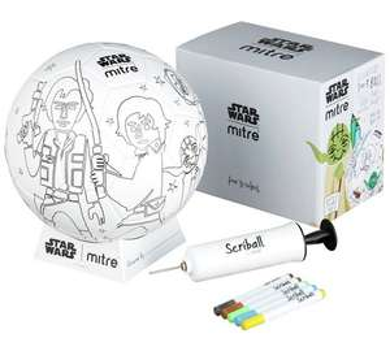 Mitre Star Wars Scriball Yoda Football (size 3) was £14.99 now £8.99 C+C @ Argos (mini Kylo Ren £6.99)