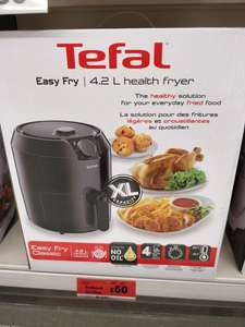 Tefal 4.2 litre Health Fryer instore at Sainsbury's for £60