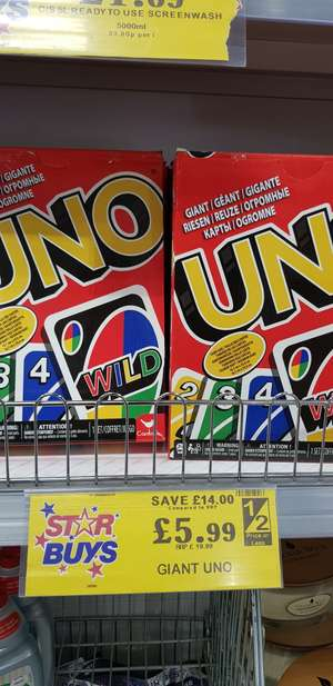 Giant Uno @ Home Bargains for £5.99