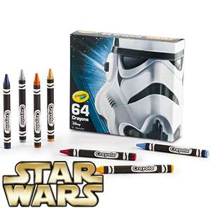 Crayola Star Wars 64 Crayons only £1.99  Incl 48 classic crayon colours plus 16 Star Wars-themed crayons with special colours like Deep Space Sparkle, Black Glitter, Metallic Sunburst, and Cyber Grape In Store @ Homebargains