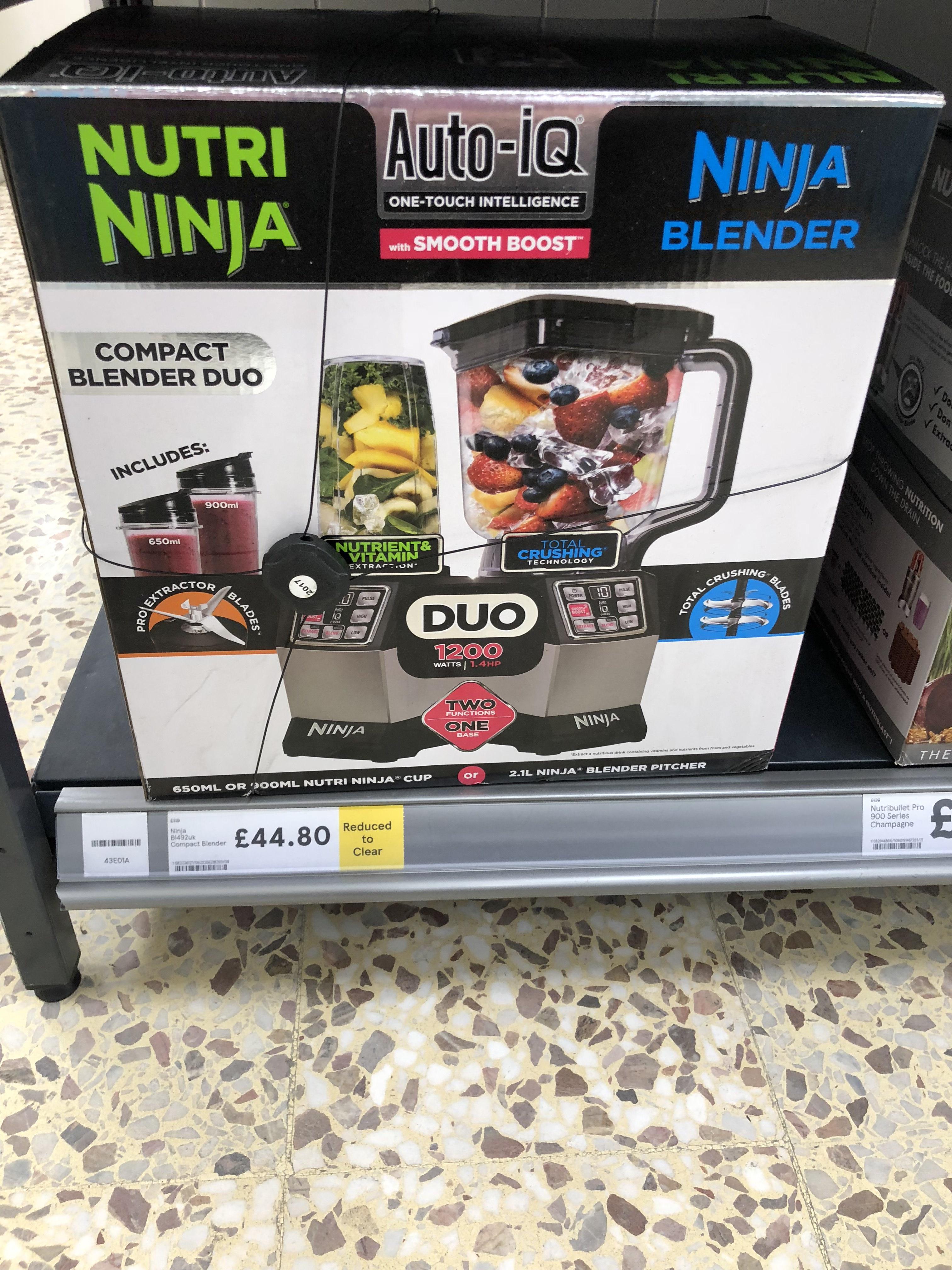 Nutri Ninja - Silver compact blender duo BL492 £44.80 @ Tesco York