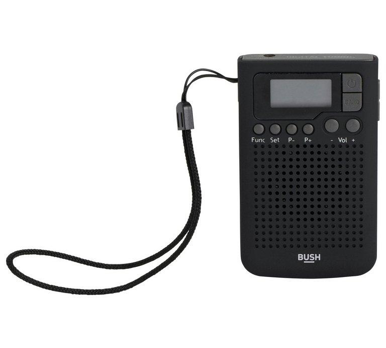 ** Bush FM Personal Radio ( lcd display, headphone socket, alarm )  reduced £2.50  @ Argos