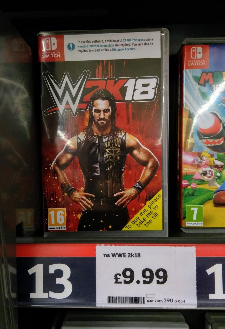 WWE 2K18 Nintendo Switch £9.99 at Sainsbury's