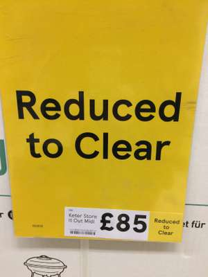 keter store it out midi Tesco instore Cumbernauld Extra for £85