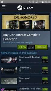 50% on Dishonored Collection at Steam for £27.49