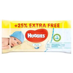 Huggies Pure baby wipes JUMBO pack (72 wipes instead of 56) x 10 £5.14 @ Costco (membership only). (720 wipes is almost 13 standard pack of 56)