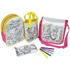 Disney Beauty & the Beast Belle Colour Your Own Bag Set - 4 Pack was £29.99 now £11.99 C+C @ Very (£29.99 at Argos)