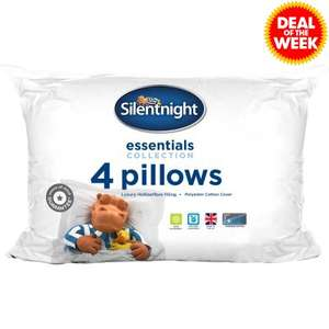 Silentnight 4 Pack Pillows £8 with code / £12.99 delivered @ JTF