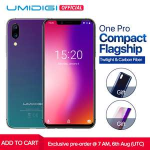 """UMIDIGI One Pro Global Band 5.9"""" Stock Android 8.1 mobile phone wireless charge 4GB 64GB P23 Octa Core smartphone 12MP+5MP Dual 4G NFC £136 UMIDIGI Official Store / Ali express (32gb VERSION £112)"""