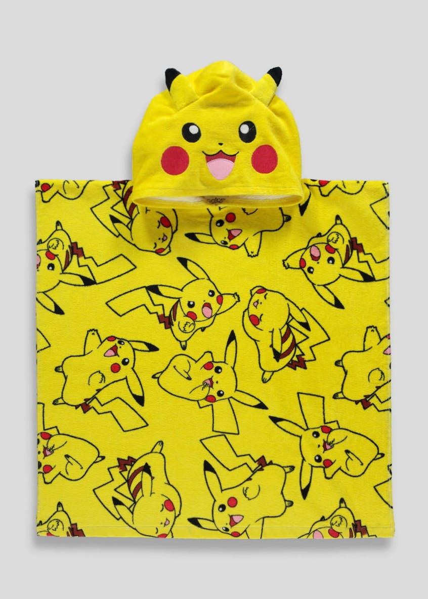 Kids Pokémon Pikachu Hooded Towel Poncho (One Size) was £10, now £5 @ Matalan