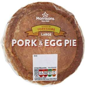 £1 Morrisons Large Pork Pie & Egg 440g