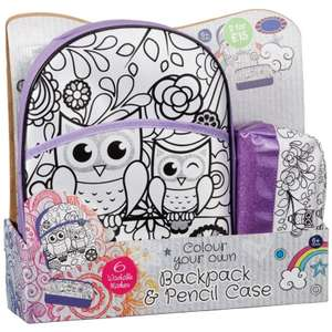 Colour Your Own HandBag or Backpack set inc 6 pens In Store £3.99 @ B&M Stores