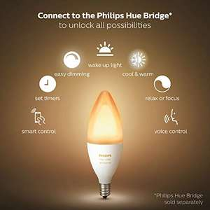 Philips Hue white ambience e14 twin pack price drop £56 for 4 bulbs on amazon