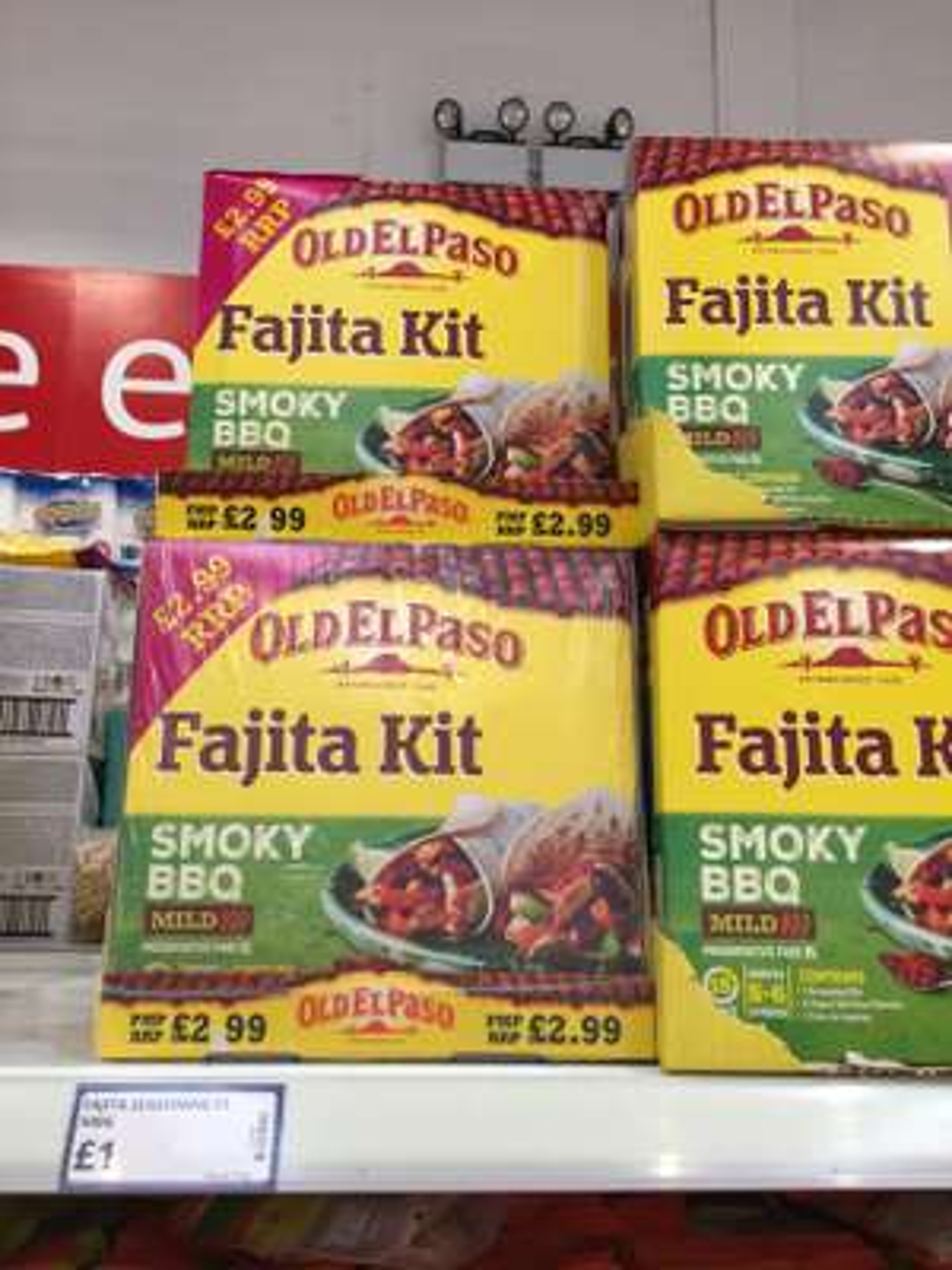 Old El Paso Fajita & Enchilada kits +50% free only £1 at poundstretcher Hulme, Manchester