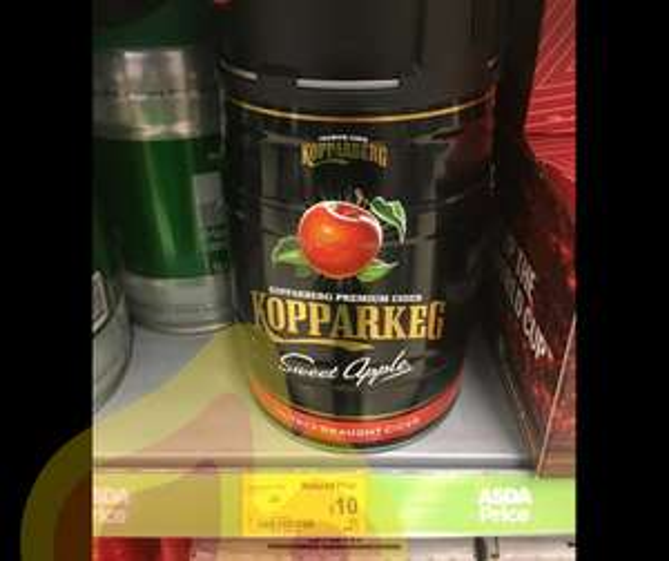 Kopparberg Sweet Apple Cider 5ltr Keg £10 Asda (Ramsgate)