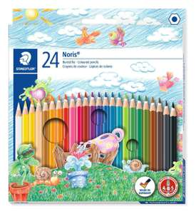 STAEDTLER Noris Club colouring pencils 144 NC24, Pack 24 Assorted  Used - Like New, £1.97 prime / £6.46 non prime Amazon Warehouse