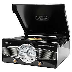Groov-e retros series record player \ FM radio in store tescos