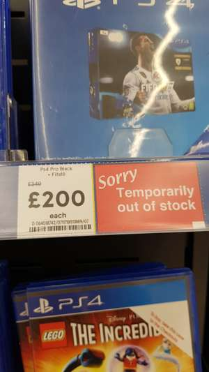 PS4 Pro with FIFA 18 - £200 @ Tesco (OOS In-Store)