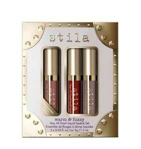 Stila Warm & Fuzzy Stay All Day Liquid 3 Lipstick Set + Free delivery £10 @ stila