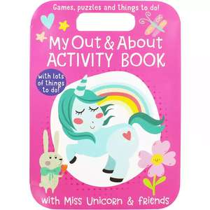 My Out and About Activity Book choose from Unicorn, Pirate or Mermaid with lots of mazes, colouring, games, puzzles and more Links in op only £2 with code free c&c @ The Works