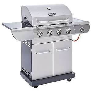 Nexgrill 4 Burner and Side Convective Gas Grill with Rotisserie - £115 @ Asda