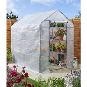 Large Walk-in Green House with 18 shelves for £25 instore @ Wilko