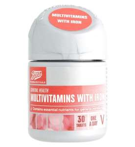 Boots Multivitamins with Iron (30 Tablets) - 3 for 2 offer @ 2.09 each (free C&C)