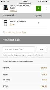 Nespresso Vertuo Plus £79.25 for Nespresso members