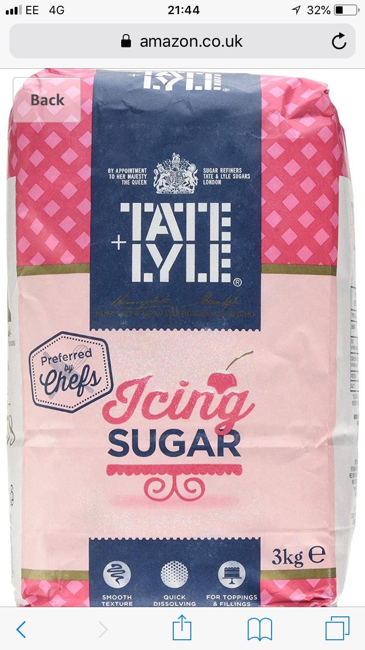 Tate and Lyle Icing Sugar 3 kg Amazon Pantry - £1.76 (+£2.99 P&P)