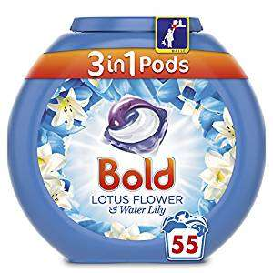 Bold  55 wash  £4.58 @ AMAZON PANTRY + £2.99 delivery
