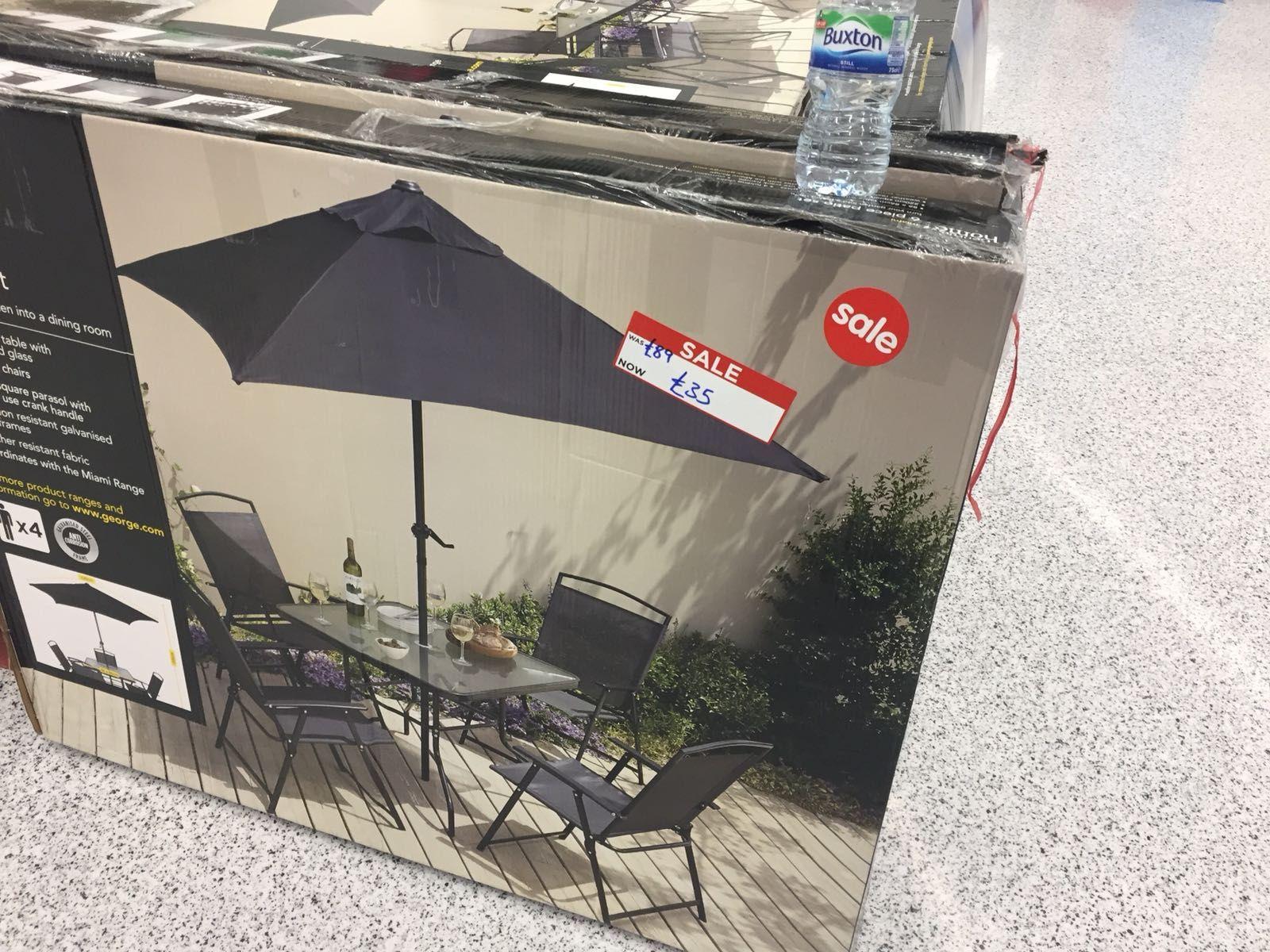 George Home/Asda Miami 6 piece patio set instore for £35