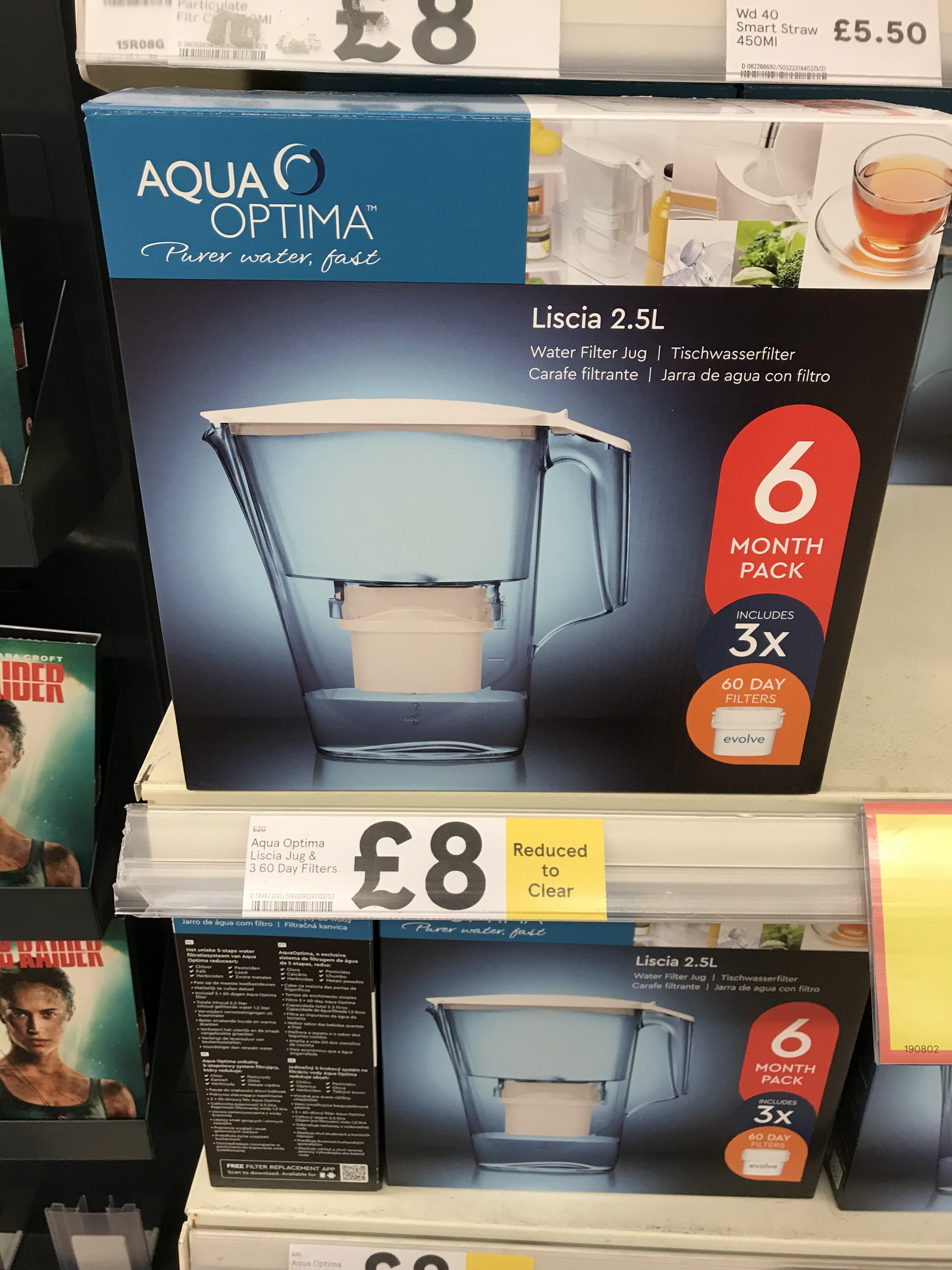 Aqua optima instore at Tesco for £8