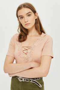 Floral Applique Swing Top Was £19.00 Now£2.40 @ Topshop Free click & collect