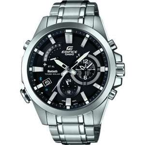 MENS CASIO EDIFICE TIME TRAVELLER BLUETOOTH HYBRID SMARTWATCH ALARM CHRONOGRAPH WATCH EQB-510D-1AER at Watch Shop for £162