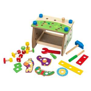 30 pce Wooden construction workbench and tools set £5 @ Smyths