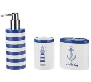 Home Coastal 3 Piece Accessory Set £9.99 was £19.99 Argos