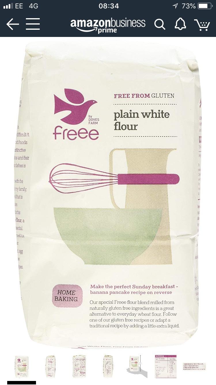 Doves Farm Plain Free From Gluten White Flour, 1kg  57p at Amazon Pantry