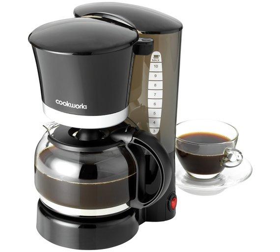 Cookworks Filter Coffee Maker - Black £5.99 @ Argos