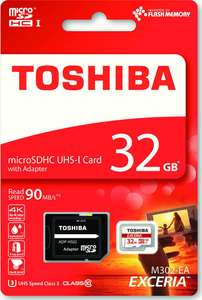 2 x Toshiba 32 GB EXCERIA M302 Micro SDHC UHS-I U3 Class 10 Cards with Adapters - £14.99 @ base.com