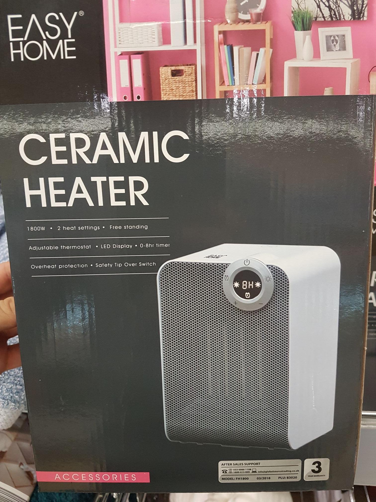 Aldi easyhome Ceramic  Heater reduction £5.99 instore