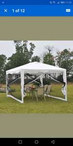 Outsunny 4 x 3m Party Tent Waterproof Garden Gazebo Canopy £54.99 outsunny / Ebay